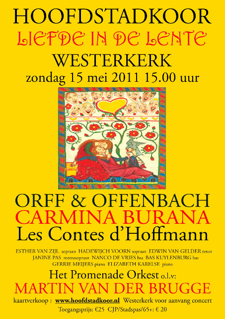 Poster concert Carmina Burana