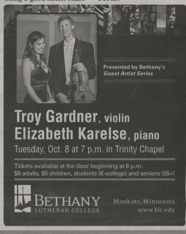 Troy Gardner, violin & Elizabeth Karelse, piano